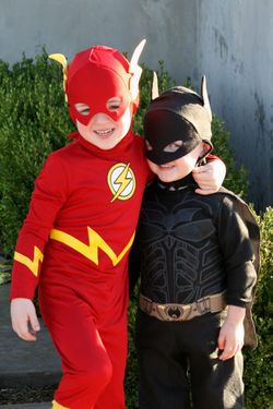 Flash and batman brothers
